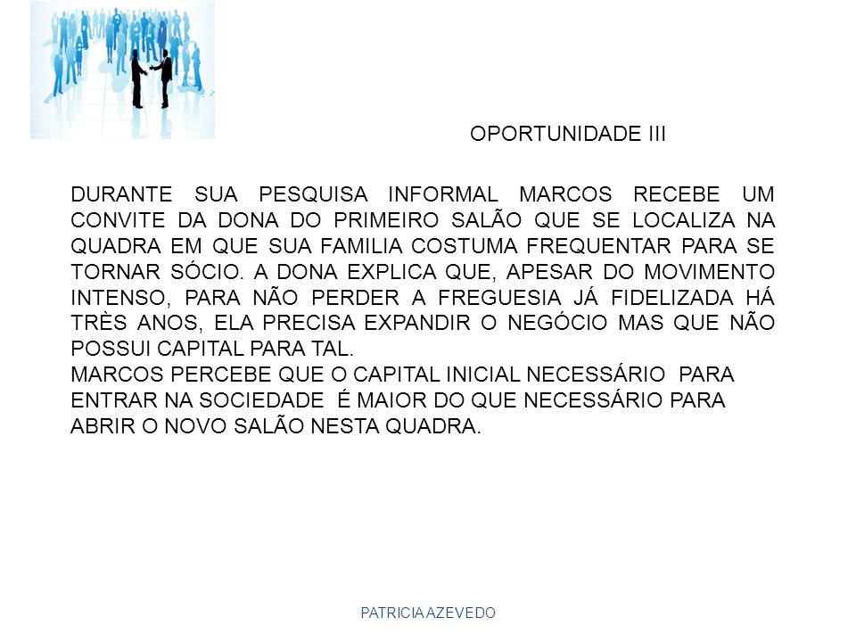 OPORTUNIDADE III