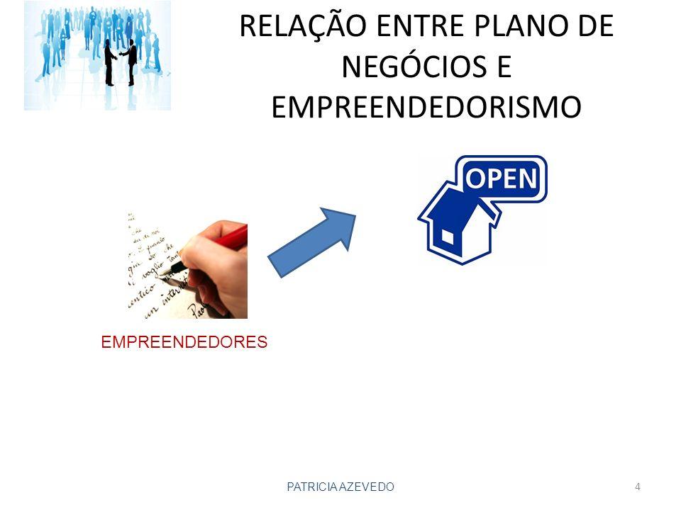RELAÇÃO ENTRE PLANO DE NEGÓCIOS E EMPREENDEDORISMO