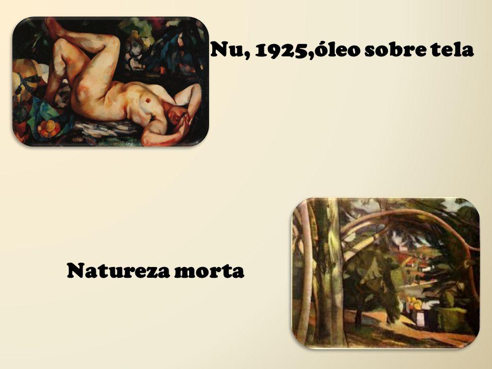 Nu, 1925,óleo sobre tela Natureza morta