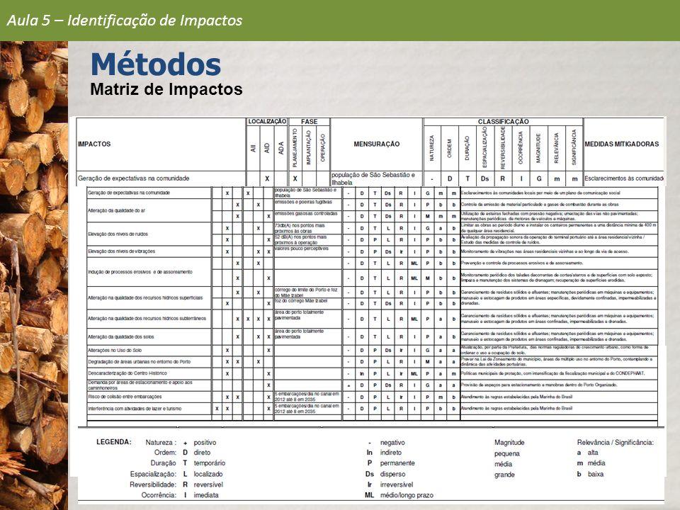 Aula 5 – Identificação de Impactos