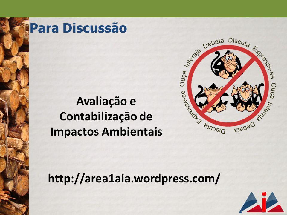Avaliação e Contabilização de Impactos Ambientais