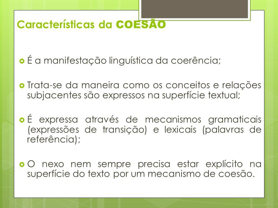 Características da COESÃO