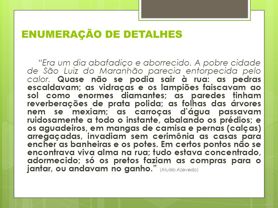 ENUMERAÇÃO DE DETALHES