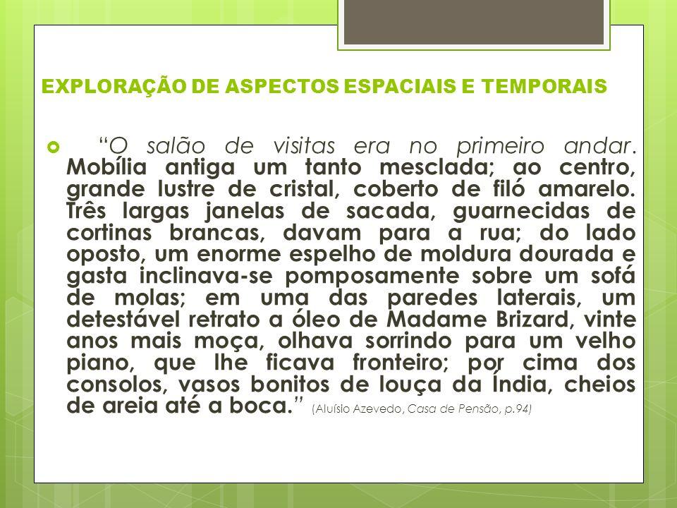 EXPLORAÇÃO DE ASPECTOS ESPACIAIS E TEMPORAIS