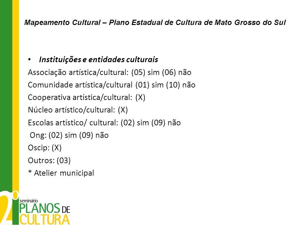 Instituições e entidades culturais