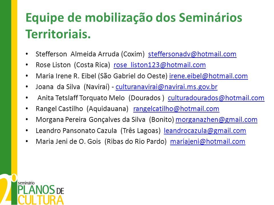 Equipe de mobilização dos Seminários Territoriais.
