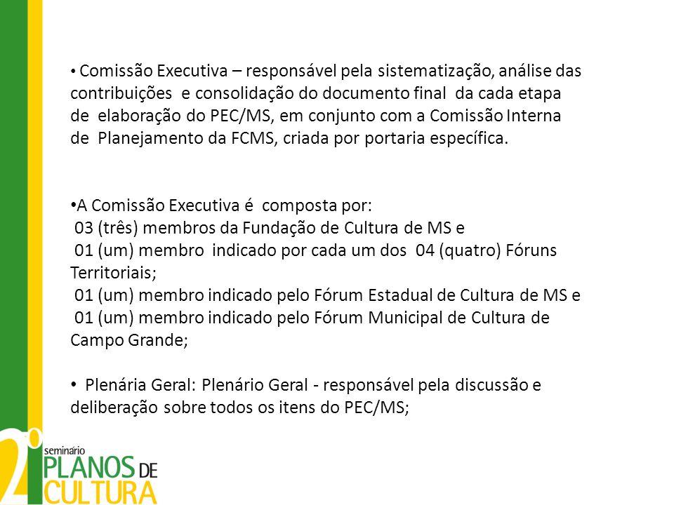 A Comissão Executiva é composta por: