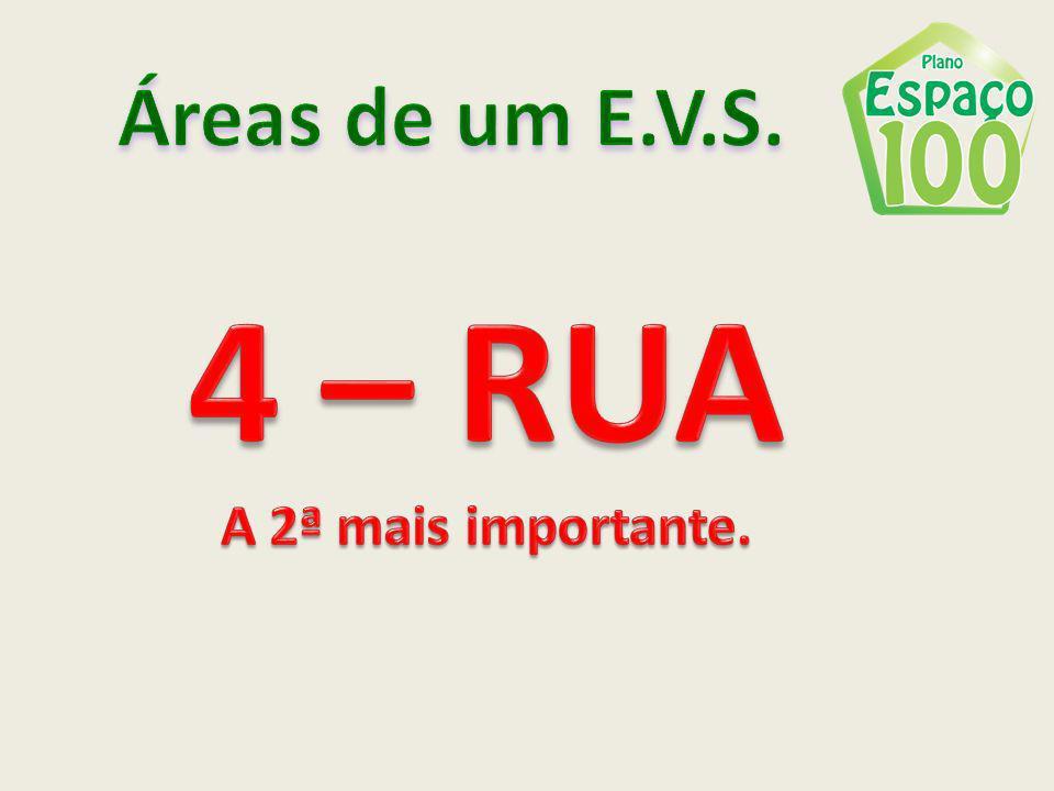 Áreas de um E.V.S. 4 – RUA A 2ª mais importante.