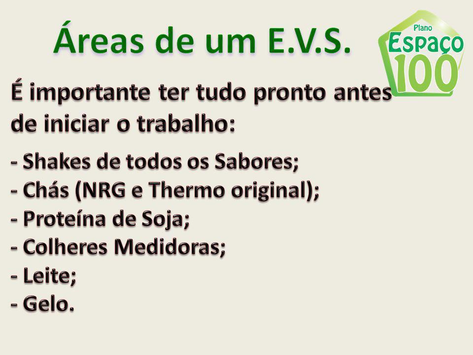 Áreas de um E.V.S. É importante ter tudo pronto antes
