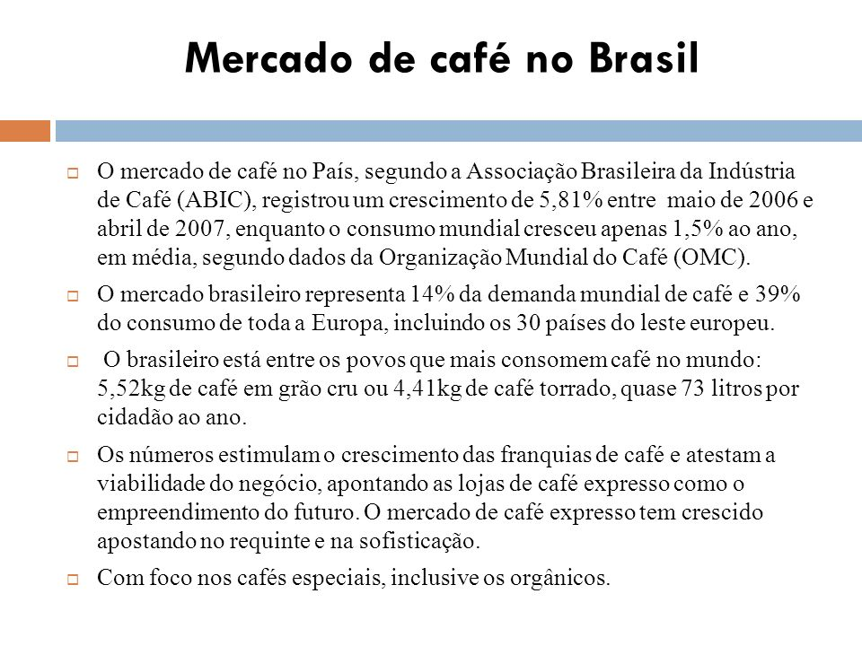 Mercado de café no Brasil
