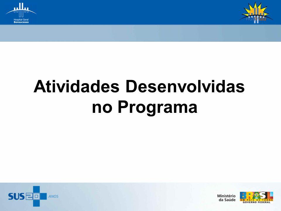Atividades Desenvolvidas no Programa