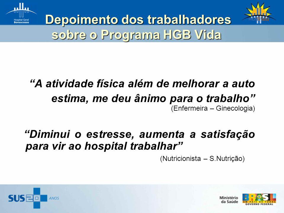 Depoimento dos trabalhadores sobre o Programa HGB Vida