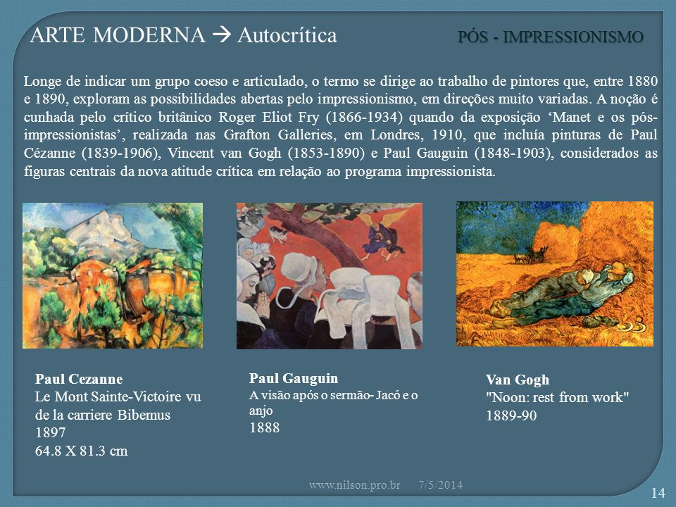 ARTE MODERNA  Autocrítica