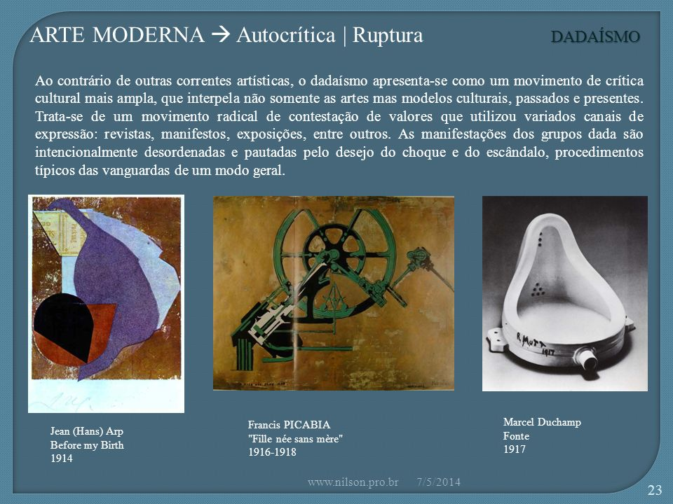 ARTE MODERNA  Autocrítica | Ruptura