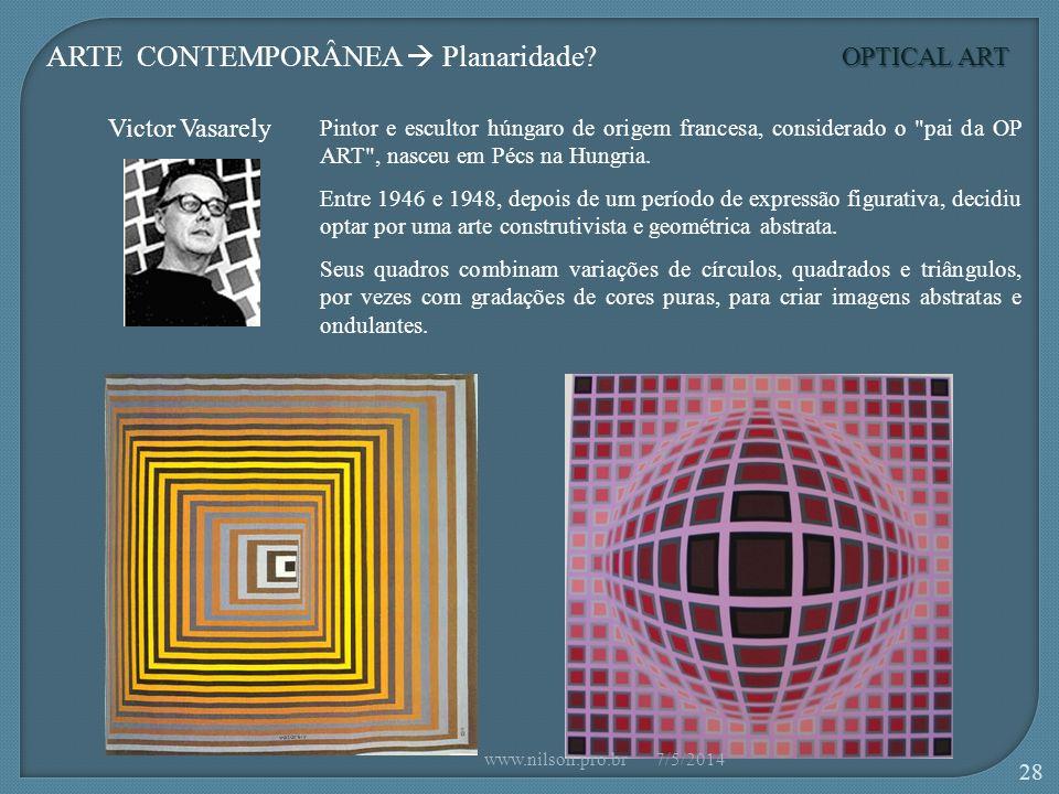 ARTE CONTEMPORÂNEA  Planaridade