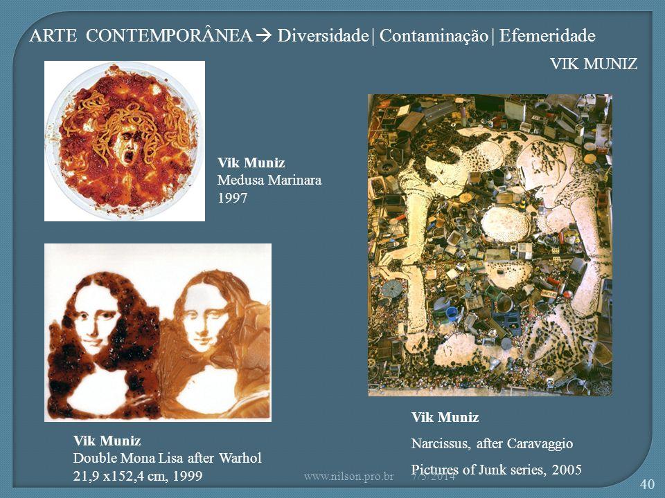 ARTE CONTEMPORÂNEA  Diversidade | Contaminação | Efemeridade