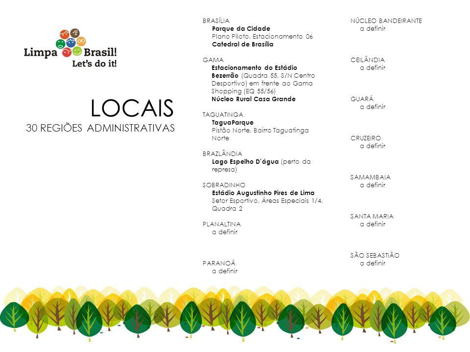 LOCAIS 30 REGIÕES ADMINISTRATIVAS 4 BRASÍLIA NÚCLEO BANDEIRANTE