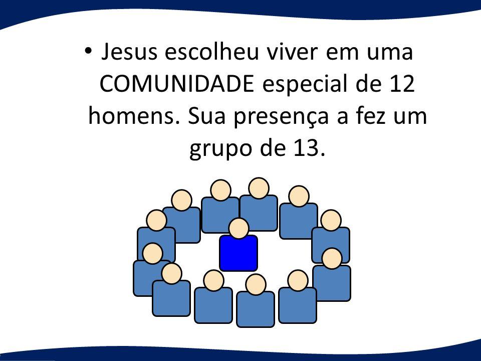 Jesus escolheu viver em uma COMUNIDADE especial de 12 homens