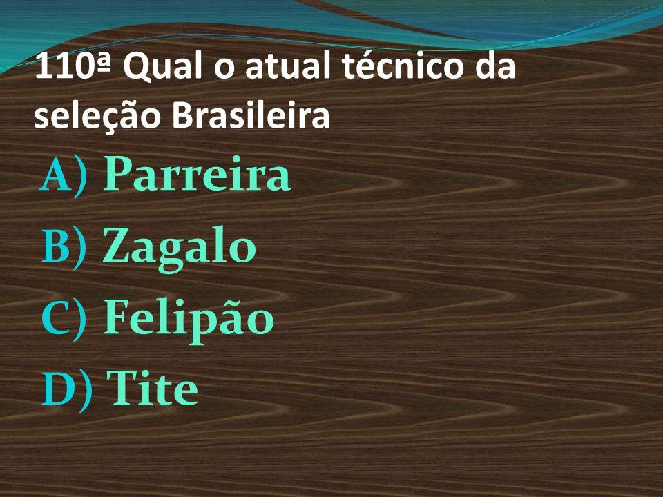 110ª Qual o atual técnico da seleção Brasileira