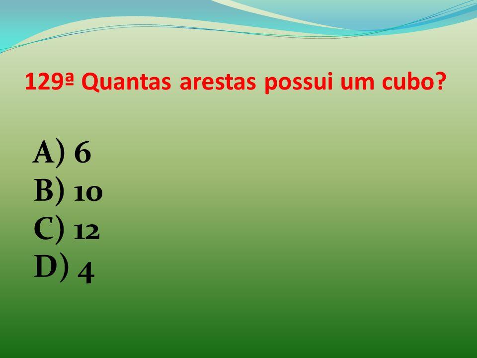 129ª Quantas arestas possui um cubo