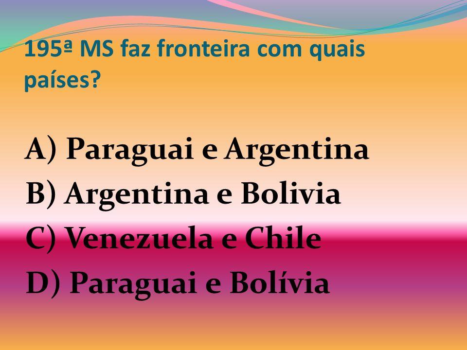 195ª MS faz fronteira com quais países