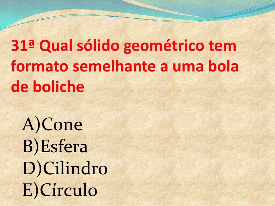A)Cone B)Esfera D)Cilindro E)Círculo