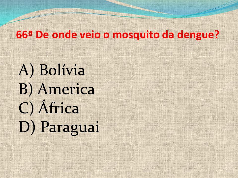 66ª De onde veio o mosquito da dengue