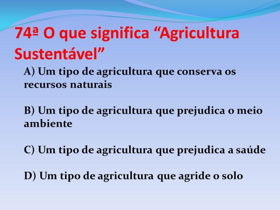 74ª O que significa Agricultura Sustentável
