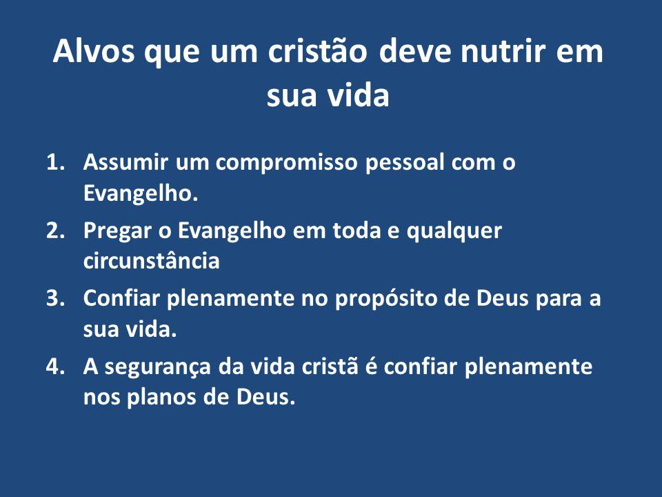 Alvos que um cristão deve nutrir em sua vida