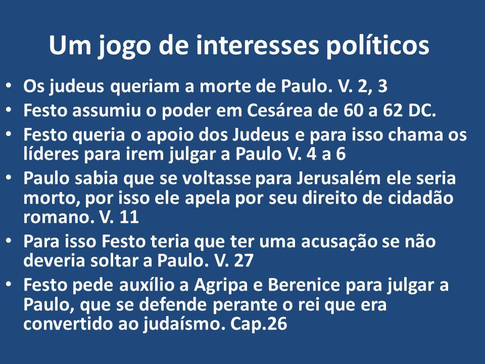 Um jogo de interesses políticos