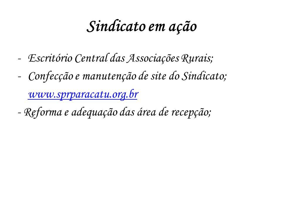 Sindicato em ação Escritório Central das Associações Rurais;