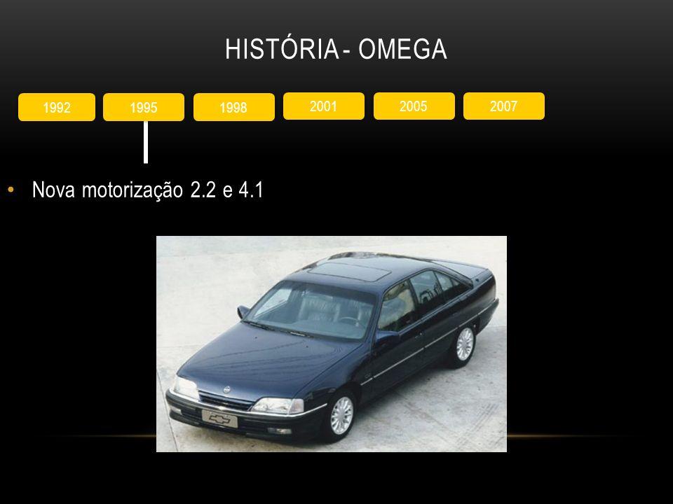 História - Omega Nova motorização 2.2 e 4.1 1992 1995 1998 2001 2005