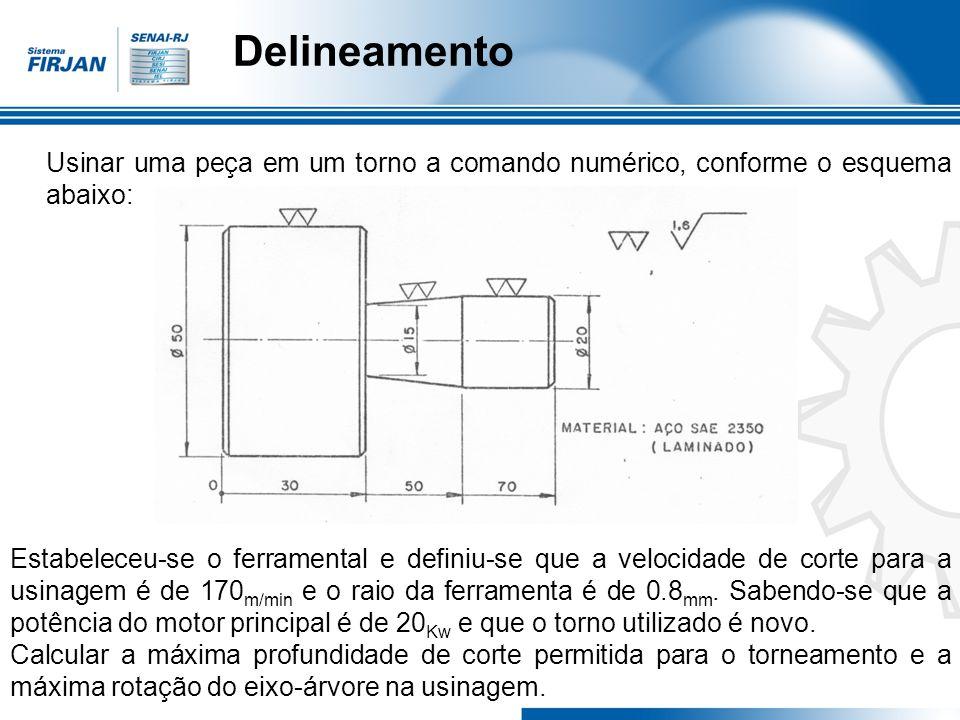 Uma segunda maneira de determinar o avanço é por intermédio de uma fórmula aproximada, considerando que o ideal sempre é obtido através da calibragem da peça teste.