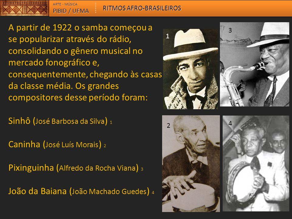 Sinhô (José Barbosa da Silva) 1 Caninha (José Luís Morais) 2