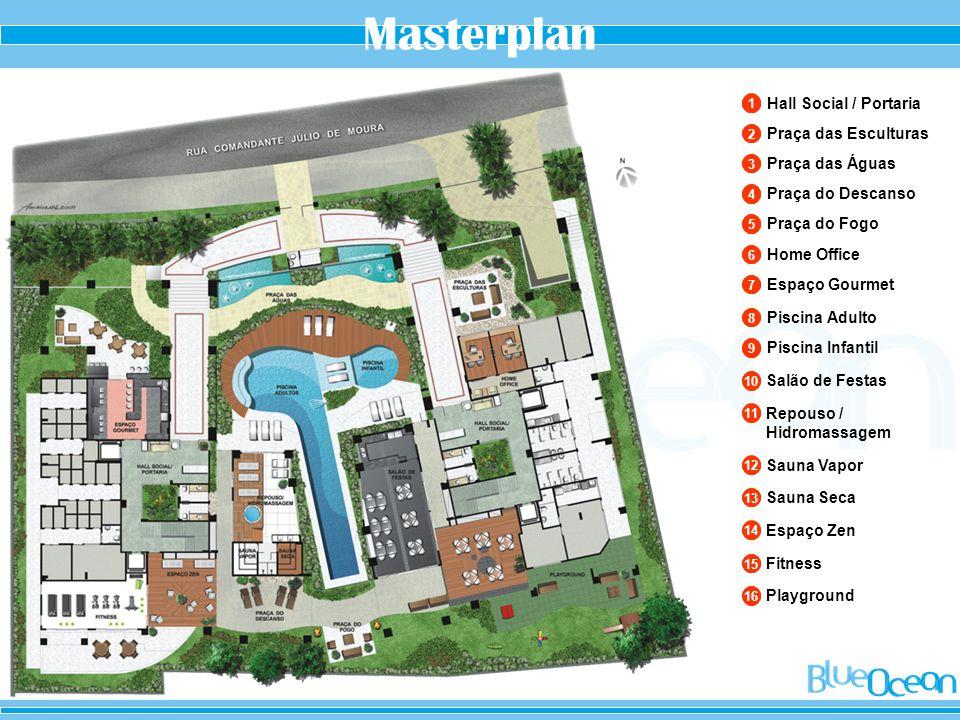 Masterplan Hall Social / Portaria Praça das Esculturas Praça das Águas