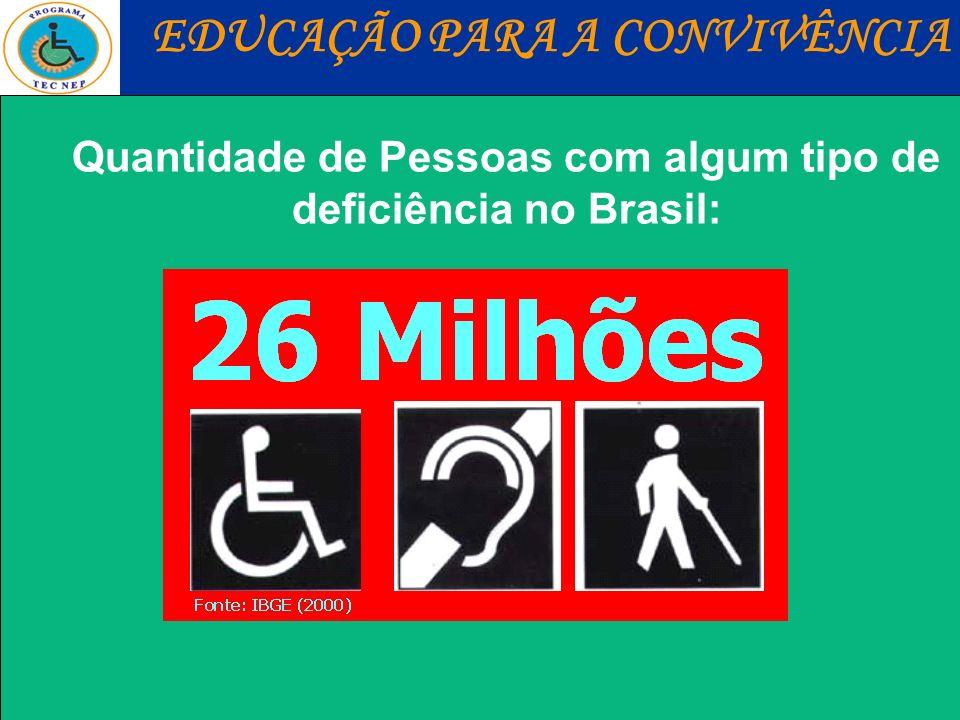 Quantidade de Pessoas com algum tipo de deficiência no Brasil: