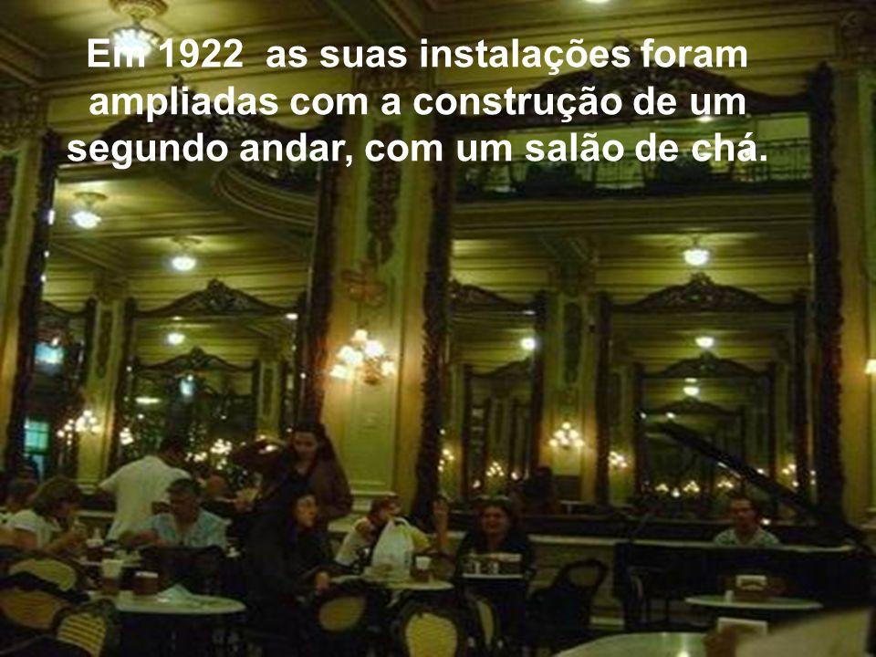 Em 1922 as suas instalações foram ampliadas com a construção de um segundo andar, com um salão de chá.