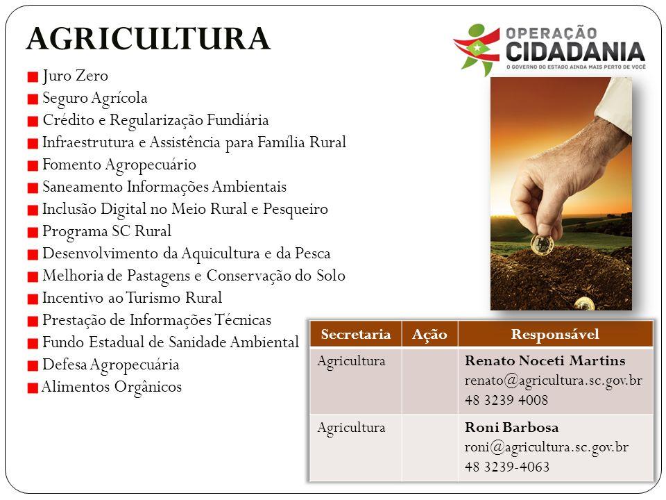 AGRICULTURA Juro Zero Seguro Agrícola
