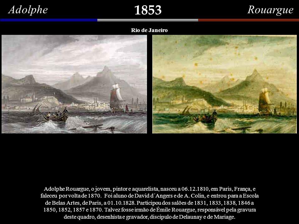 1853 Adolphe Rouargue Rio de Janeiro