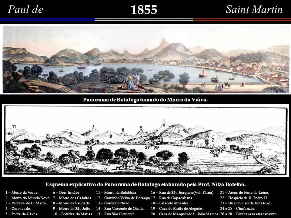 Paul de Saint Martin 1855. Panorama de Botafogo tomado do Morro da Viúva.