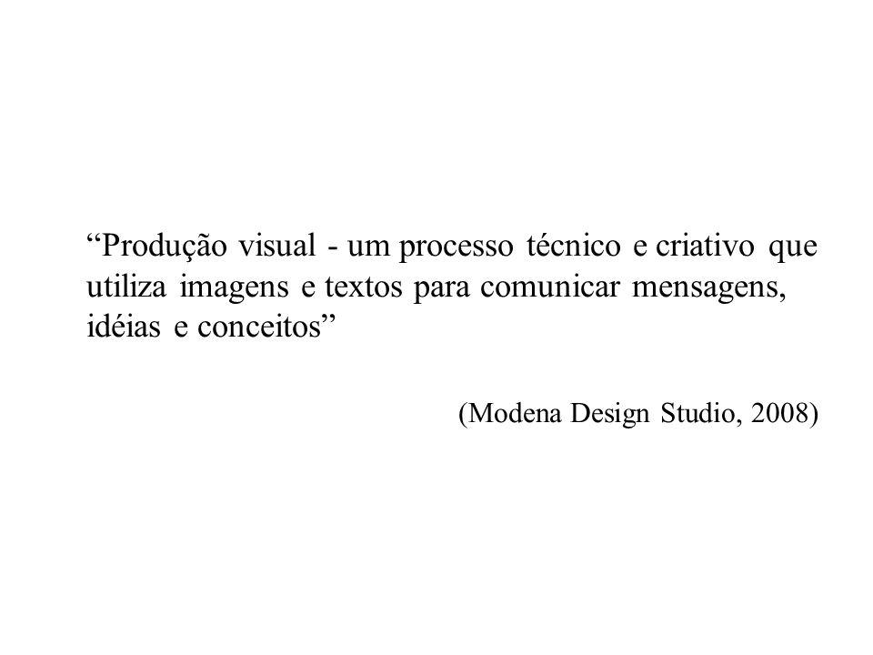 Produção visual - um processo técnico e criativo que utiliza imagens e textos para comunicar mensagens, idéias e conceitos