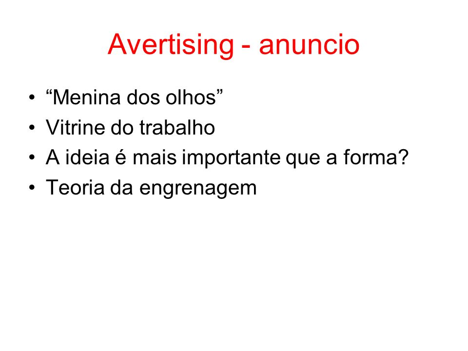 Avertising - anuncio Menina dos olhos Vitrine do trabalho