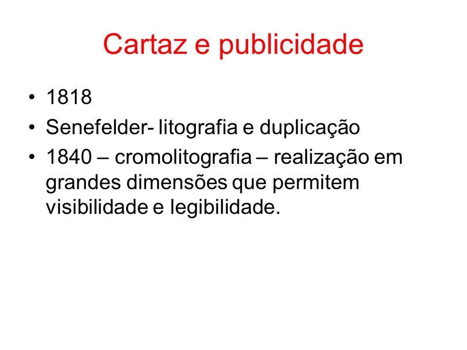 Cartaz e publicidade 1818 Senefelder- litografia e duplicação