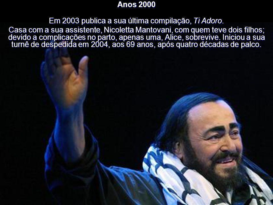 Em 2003 publica a sua última compilação, Ti Adoro.