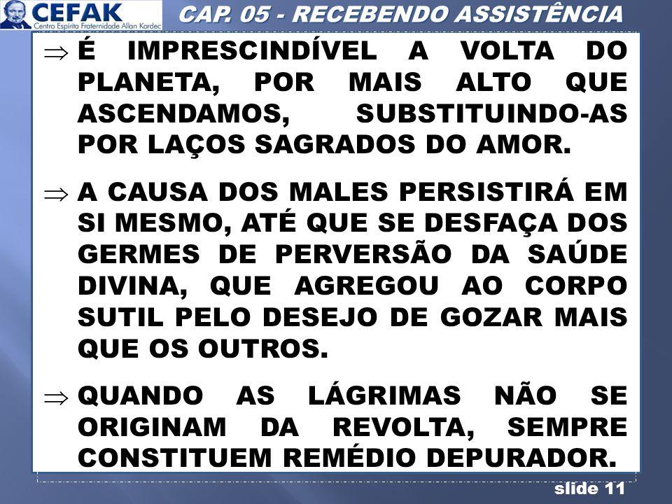 CAP. 05 - RECEBENDO ASSISTÊNCIA