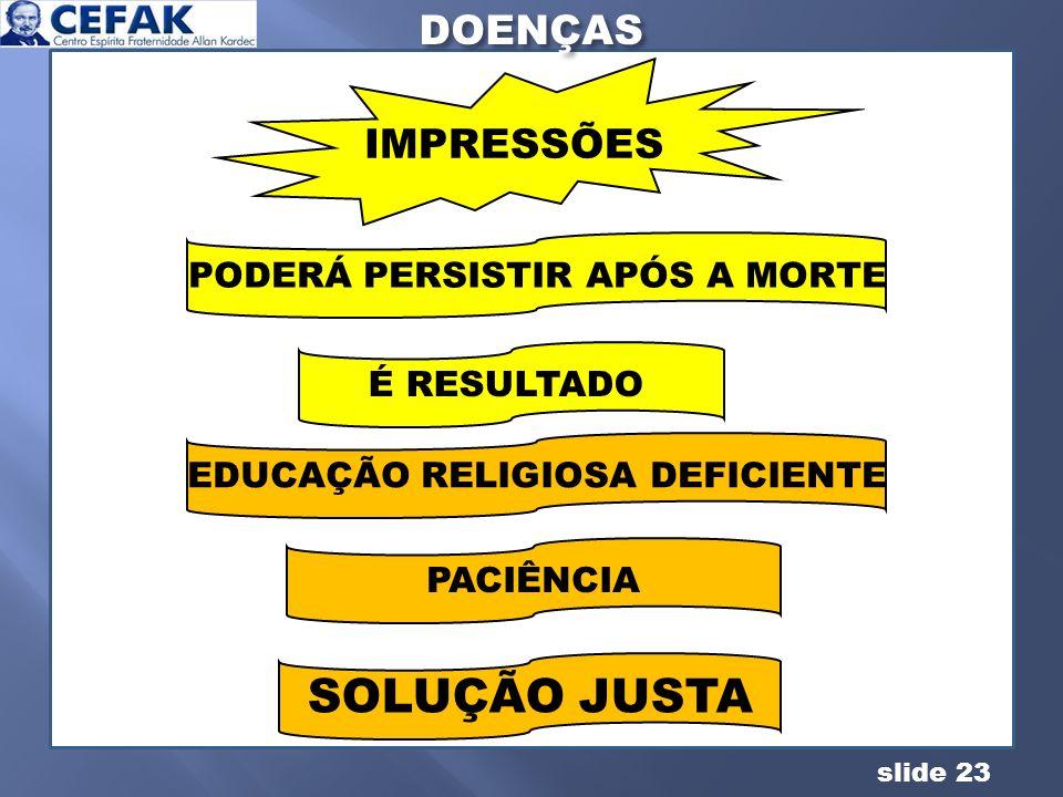 PODERÁ PERSISTIR APÓS A MORTE EDUCAÇÃO RELIGIOSA DEFICIENTE
