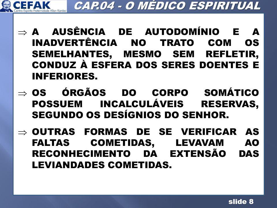 CAP.04 - O MÉDICO ESPIRITUAL