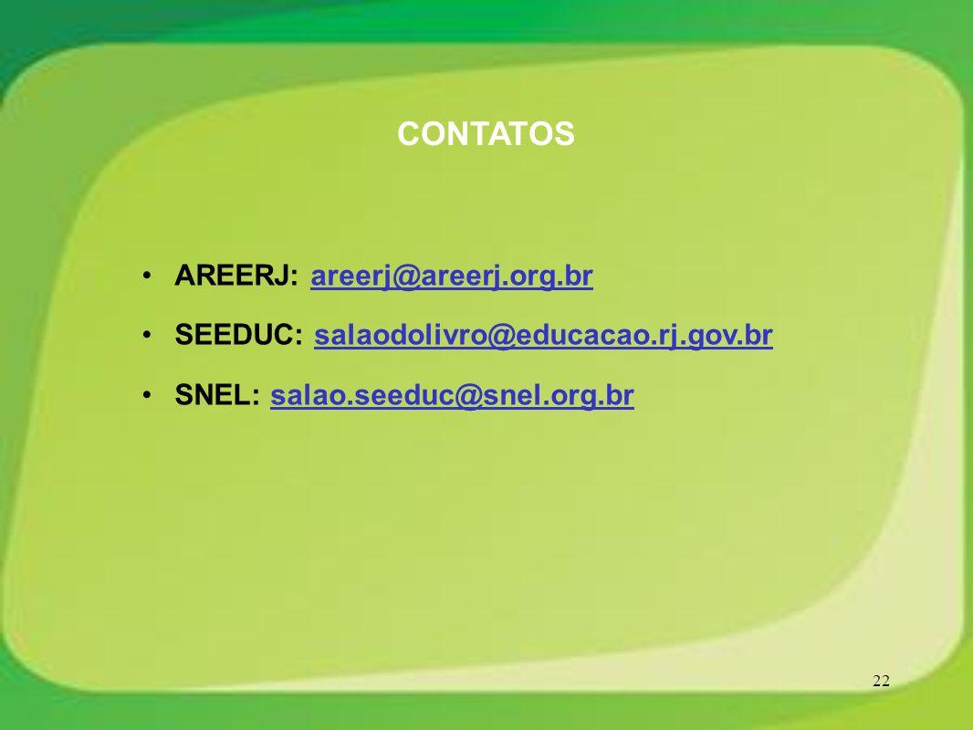 CONTATOS AREERJ: areerj@areerj.org.br
