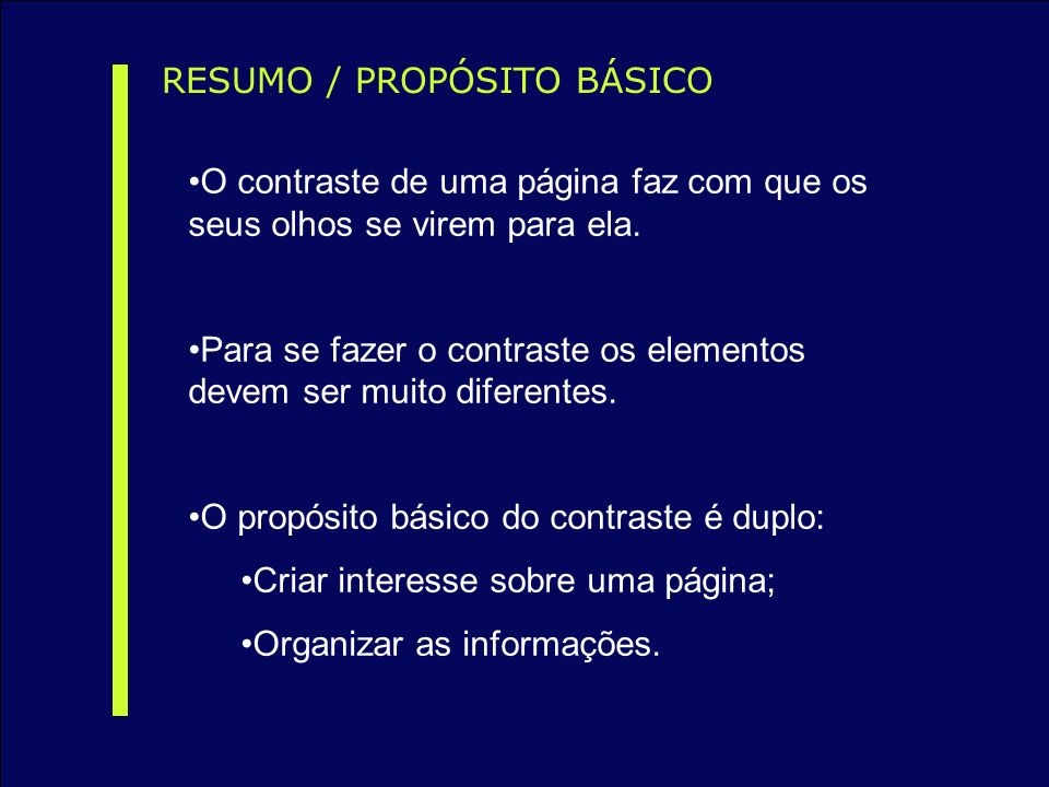 RESUMO / PROPÓSITO BÁSICO