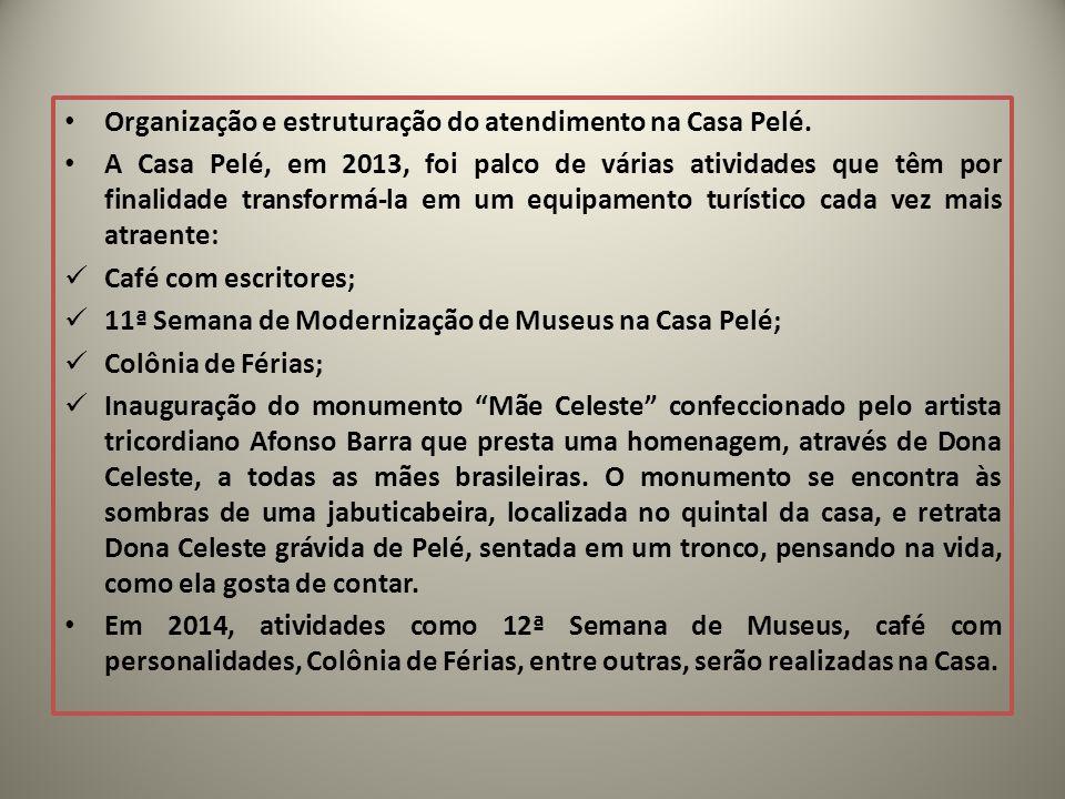 Organização e estruturação do atendimento na Casa Pelé.